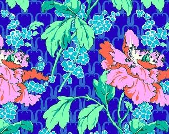 Field Poppy - SKY - PER 25CM - Amy Butler - VIOLETTE - PWAB136 - 100% Cotton Quilt Fabric