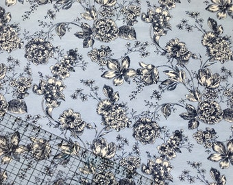 BTY Floral Snuggle Flannel Fabric By The Yard
