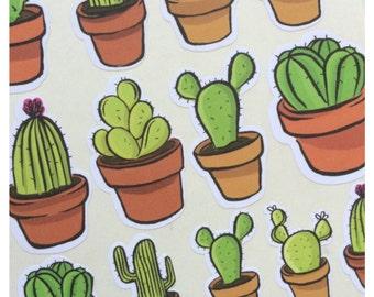 Desert Cactus Sticker Sheet Set