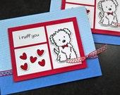 Dog Love Card, Valentine's Day Card for Boyfriend, Dog Anniversary Card for Husband, I Ruff You, Valentine Card
