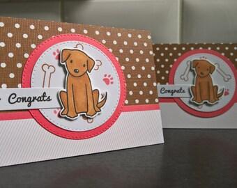 New Puppy Card, New Dog Card, Congratulations on Your New Puppy Card, Dog Lover Card, New Dog Parents, Congratulations Dog