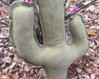 Saguara Cactus Pillow - Desert Pillow - Nursery Decor - Stuffed Saguaro - Southwestern Decor