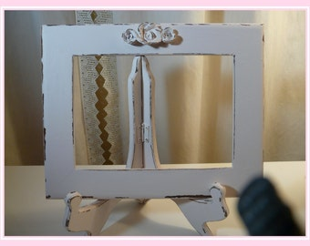 5 x 7 Shabby Picture Frame in Light Pink~