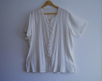 Sale Bohemian White embellished shirt
