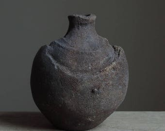 Wood Fired Bottle, Tokkuri, North Coast Range Series, Native California Clay #887