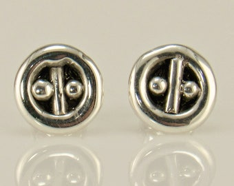 ER601- Sterling Silver Post Earrings- One of a Kind