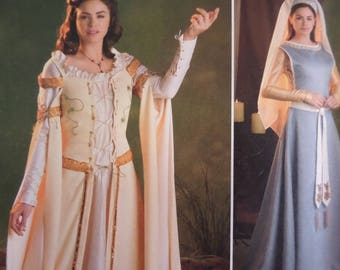 RENAISSANCE GOWN Pattern • Simplicity 2573 • Miss 16-24 • Maid Marian • Medieval Dress • Adult Costumes • Costume Patterns • WhiletheCatNaps