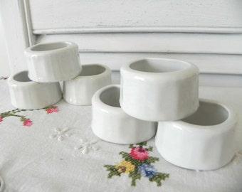 White Cottage Style Vintage Napkin Rings