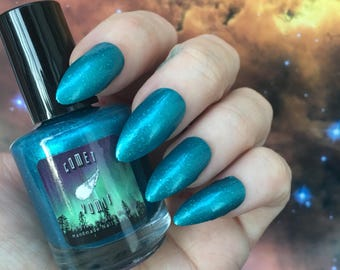Teal deGrasse Tyson nail polish by Comet Vomit