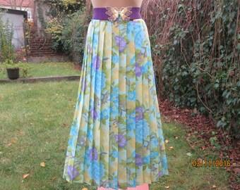 Pleated Skirt / Long Pleated Skirt / Maxi Skirt / Accordion / Pleated Skirts / Size EUR46 X UK18 / Elastic Waist Skirt