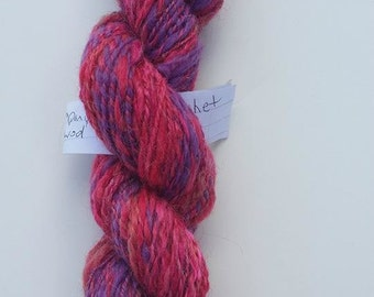 Berry Handspun Yarn/ 2 ply / 81 yards