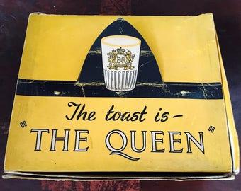 Queen Elizabeth 11 Original boxed Coronation glasses