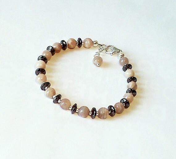 Bracelet pierre de lune rose