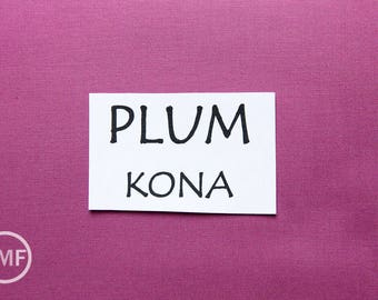 One Yard Plum Kona Cotton Solid Fabric from Robert Kaufman, K001-1294