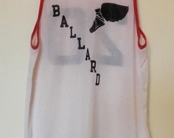 vintage Ballard Seattle Basketball tank top jersey 70s 80s mesh rare unique Champion size 40