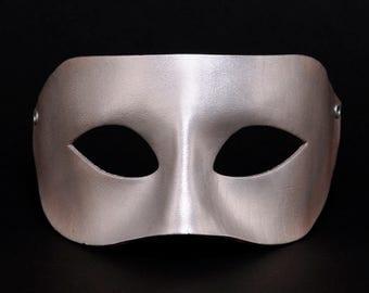 Silver, Silver Venetian mask Venetian Mask, Columbian silver masquerade, Silver Columbine Masquerade, Silver Masque, Silver Mummery, mask