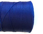 Blue Polyester Thread, Royal Blue Waxed Cord, Macrame Cord, Waxed Polyester Thread, Blue Waxed Polyester Cord  (0.8mm) 10m -11yards S 40 171