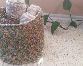Crochet Multicolored All Purpose Basket