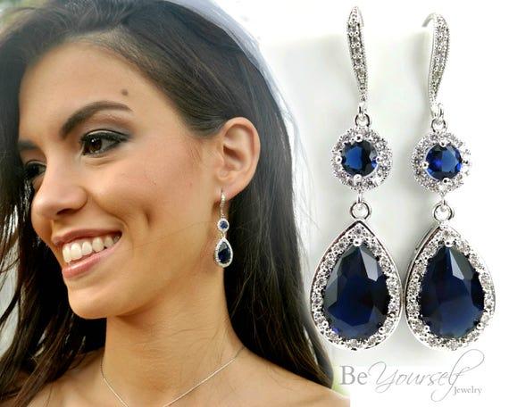 Gorgeous sapphire drop earrings