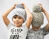 Kids Winter hat, kids Pom Pom hat, kids winter hat, Pom Pom hat, kids Knit hat, kids knit beanie, kids skull cap (The Kids Pom Pom hat)