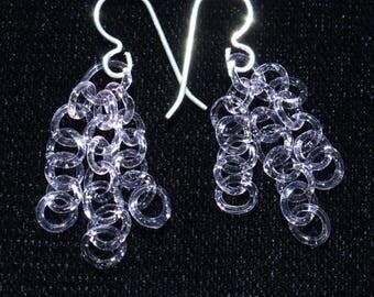 Pink Chain Earrings