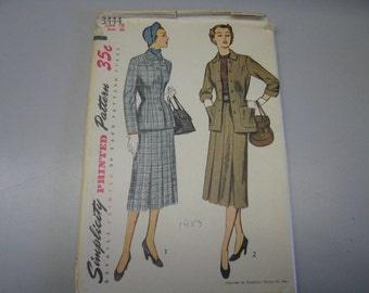 Simplicity 3444 // Size 16 // Bust 34 // 1953