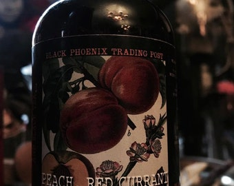 Peach, Red Currant and Black Tea Hair Gloss 4oz by Black Phoenix Alchemy Lab and Trading Post