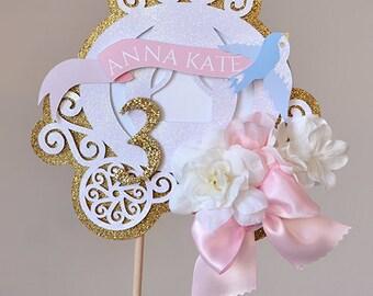 Cinderella Carriage Cake Topper, Centerpiece