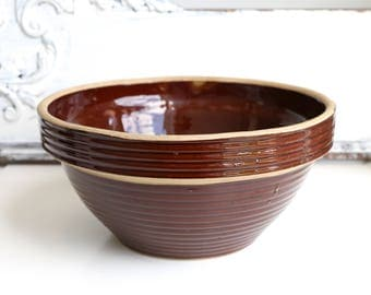Monmouth Stoneware Bowl Brown Pottery Bowl  Mixing Bowl Stoneware Bowl Large Mixing Bowl