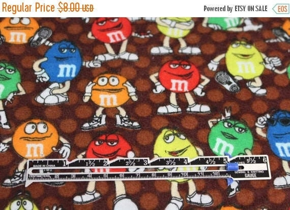 M & M's flannel fabric,100% cotton flannel,Quilt flannel fabric,Apparel flannel fabric,Craft flannel fabric,Flannel by the Yard