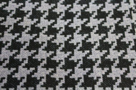 """Herringbone fabric,Black and gray herringbone fabric,Quilt fabric,Apparel fabric,Craft fabric,END OF BOLT 21"""" x 44"""" Wide"""