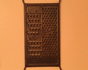 Cheese grater Mid century Grater Kitchen Tool All in One vintage Kitchen Decor Vintage cheese grater metal slicer cheese cutter