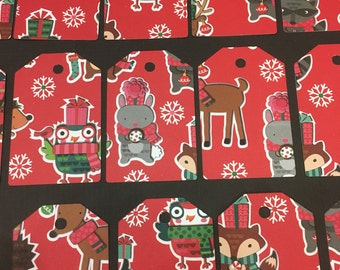 Forest Animals Christmas Tags - set of 15
