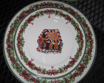 Christmas Dessert Plates, Christopher Radko, Traditions, Holiday Celebrations, 5 Plates