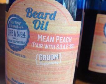 Beard Oil Mean Peach URBAN 64 by Inglenook Soaps