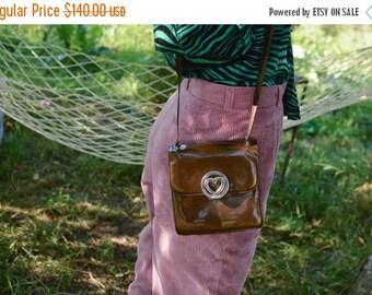 SALE MOSCHINO Patent Leather Bag Shoulder Bag Vintage 80's