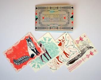 Postcard Book - Foxes