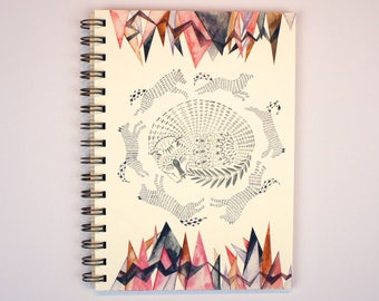 the wolves came tumbling down - A5 Spiral Bound Notebook