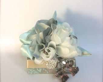 Favor Gift Box Soft Teal Gold Gift Boxes Wedding Favor Box Jewelry Box Wedding Favors Jewelry Mothers Day Bridesmaid Handmade Decorative Box
