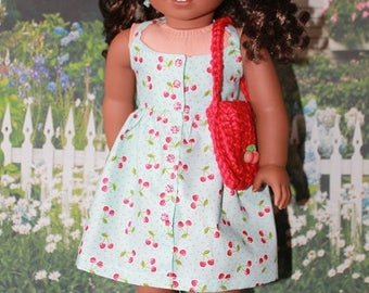 American Girl Gabriela Summer Cherry Sundress set