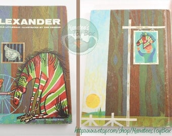 Vintage Childrens Book Alexander by Harold Littledale Hardcover 1960s