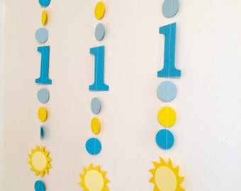 You are My sunshine 1st birthday Party Decorations - Sunshine Birthday Garlands - Birthday decor - 2nd 3rd 4th birthday - photo Backdrop