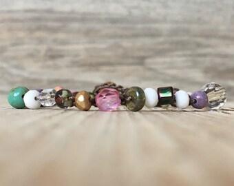 Hippie Chic - artisan boho - everyday wrap boho - yoga boho - boho crochet bracelet - boho wrap bracelet - jewelry