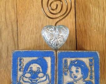 Snow White Doc vintage Disney photo holder rare Disney toys picture frame Disney wedding gifts Disney picture frame