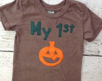 My 1st Halloween shirt, Halloween shirt, Halloween, kids clothing, kids shirt, infant, baby shirt, pumpkin