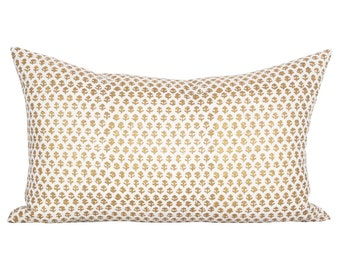 Bindi lumbar pillow cover in Gold