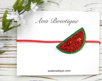 Summer Bow Headband - Watermelon Headband - Baby Watermelon Headband - Summer Baby Headband