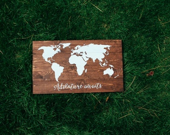 Pallet Map Etsy - How to do us map on pallet
