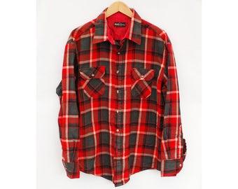 "Vintage Checked Shirt Lumberjack - XL 46"" 48"" (26136)"