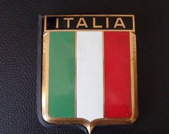 Vintage Drago Italia Car Emblem Enamel Metal Auto Accessory Italy Car Badge